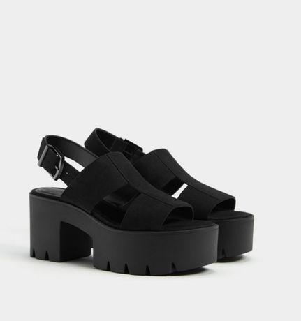 Sandálias plataforma novas Bershka