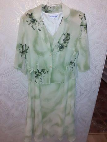 Suknia sukienka z narzutką 48