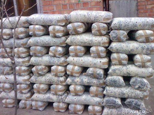 Отработанные грибные блоки вёшенки мульчирование удобрения