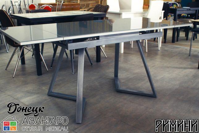"""Обеденный раскладной стол из закалённого стекла на кухню """"Римини"""""""
