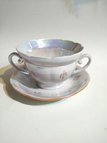 Чашка бульонная с блюдцем