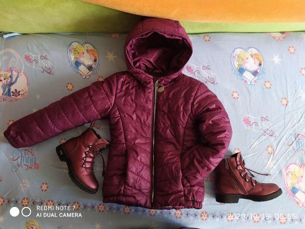 Курточка и сапоги демисезонка