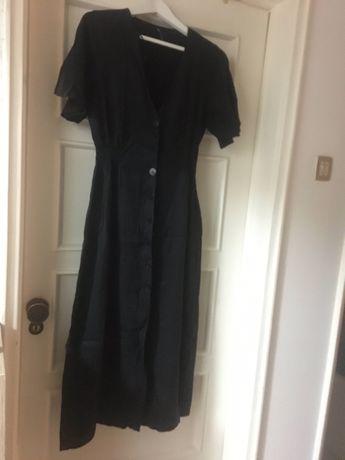 Vestido Midi Preto Zara