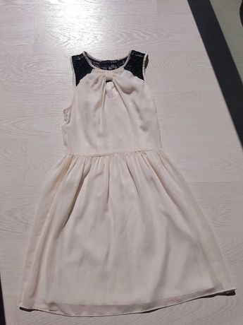 Sukienka ecru koronka 34