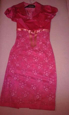 Sukienka koronkowa różowa 36