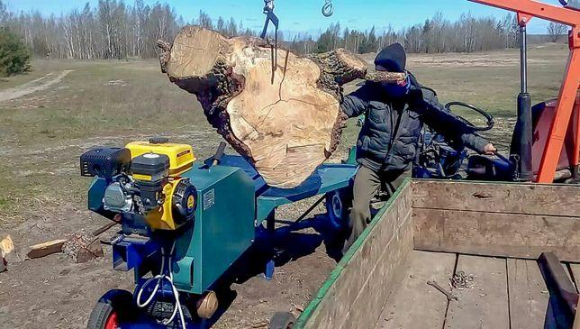 Колю дрова дровоколом. Поколоть дрова.