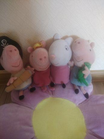 Свинка Пеппа фея медсестра Джордж Сьюзи папа Свин Мягкие игрушки
