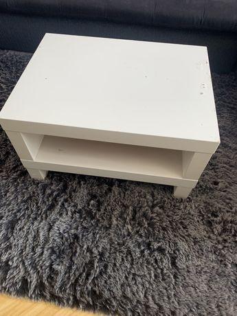 Stolik TV Stoliczek Kawowy IKEA biały półka refał szafka nocna
