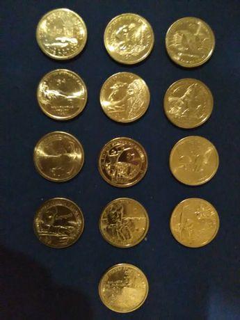 Долар Сакагавея. вся серія монет 13 шт.