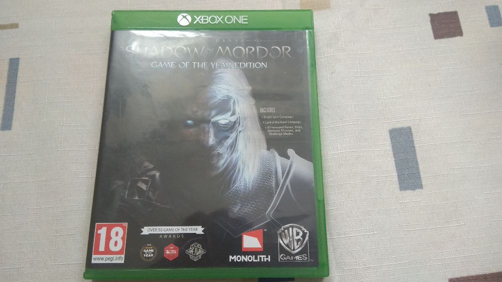 Gra na xbox one Middle earth shadow of mordor game of year edition