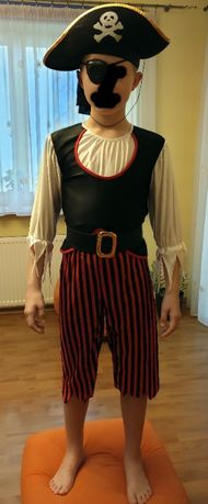 Bogaty strój kostium PIRATA 116 - 122cm