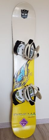 Deska Snowboardowa Nidecker Stardust 148 cm + Wiązania Osin