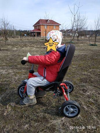 Детский трехколесный велосипед с ручкой PUKY CAT S6 Ceety (Германия)