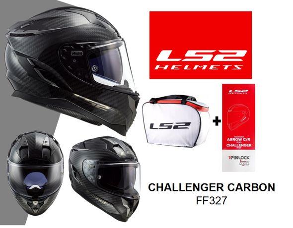 Capacete LS2 FF327 Challanger Carbon - Novo