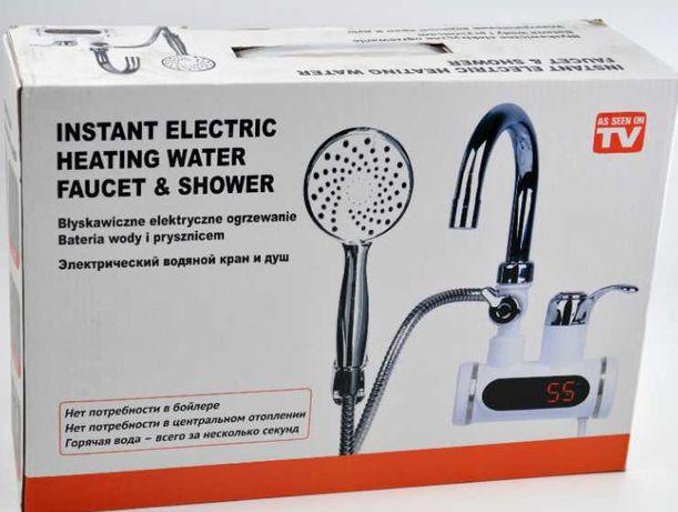 Проточный водонагреватель кран Delimano бойлер с душем и циферблатом