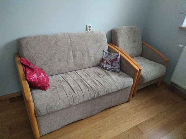 Zestaw wypoczynkowy (sofa + fotel)