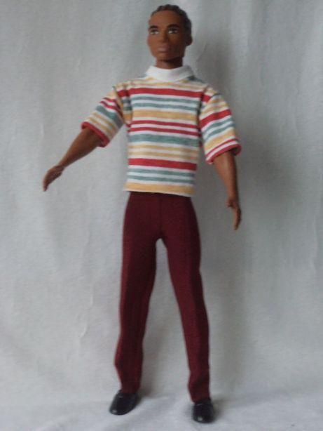 Ubranka dla lalki barbie - ken - spodnie i koszulka w paski !!!