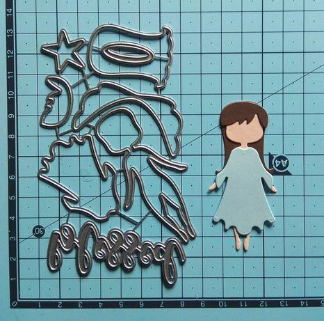 Wykrojnik aniołek dziewczynka święta big shot scrapbooking cardmaking