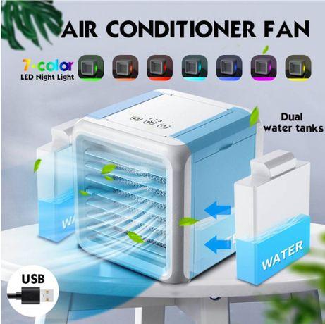 Mini Refrigerador tipo Ar Condicionado Purificador USB a Agua LED NOVO