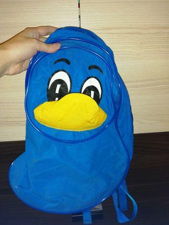 Plecak kaczka dla przedszkolaka niebieski