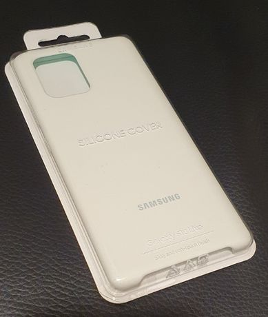 Etui SAMSUNG Silicone Cover do Galaxy S10 Lite Biały EF-PG770TWEGEU