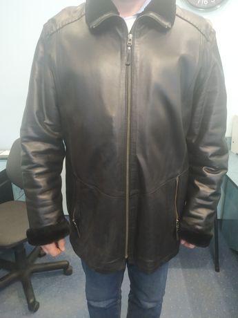 шкіряна куртка дублянка