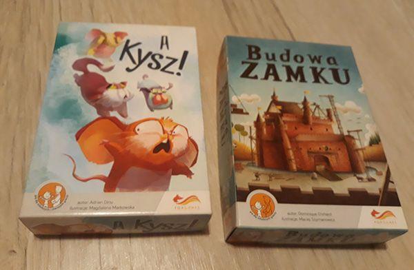 Gry planszowe: Budowa zamku i A Kysz!