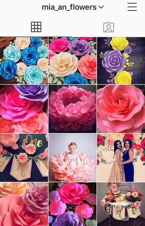 Бумажные цветы,цветы из бумаги,декор, день рождение, свадьба, витрина