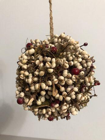 Новогодний шар на ёлку Handmade с натуральным декором Новый Год