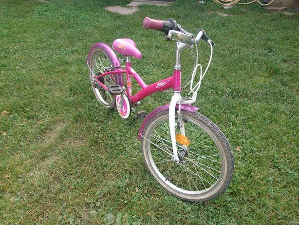 Rower rowerek dla dziewczynki Btwin różowy