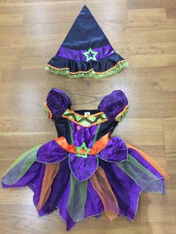 Карнавальное платье Ведьмочка на 1-2 года. Хэллоуин