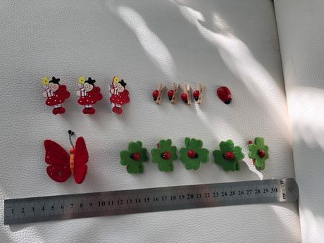 Декоративні Божі корівки Жучки Сонечка на прищепках