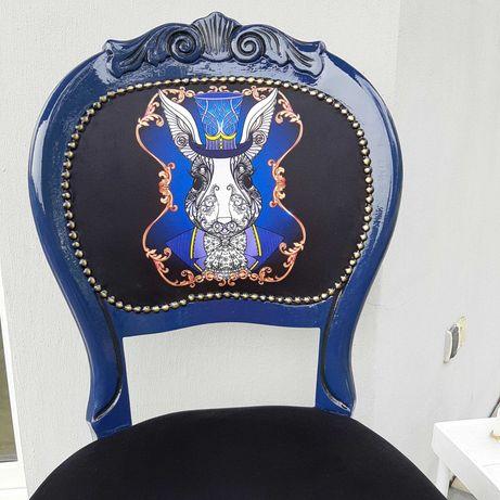 Krzesło Ludwik- po renowacji Królik w Krainie Czarów