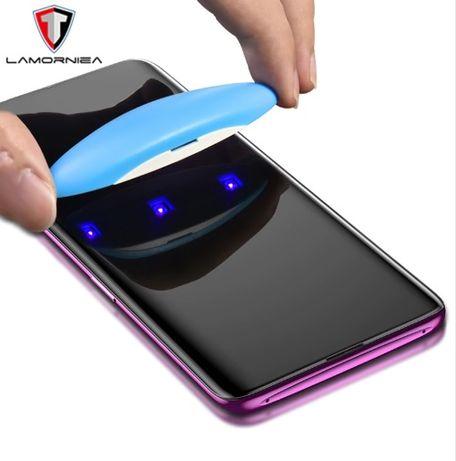 Стекло полн клей Samsung Galax S10 S7 edge S8 S9 Plus S20 Note 8 9 10