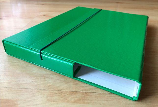 Teczka na dokumenty typu box, zielona