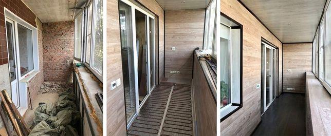 Внутренняя обшивка, отделка, балконов и лоджий