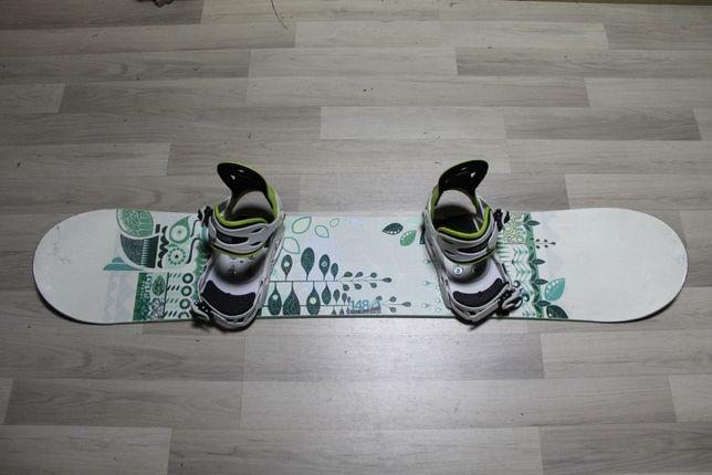 Deska Snowboard SALOMON LOTUS 148 cm + Wiązania RAIDEN