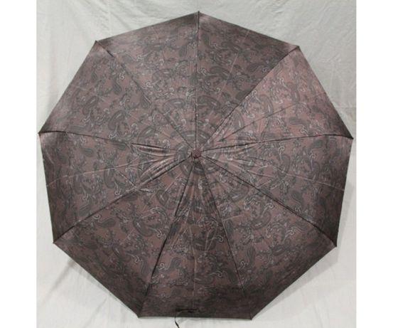 Женский зонт полуавтомат 9 спиц антиветер атлас сатин зонтик