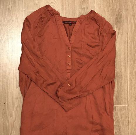 Рубашка горчичного цвета размер L