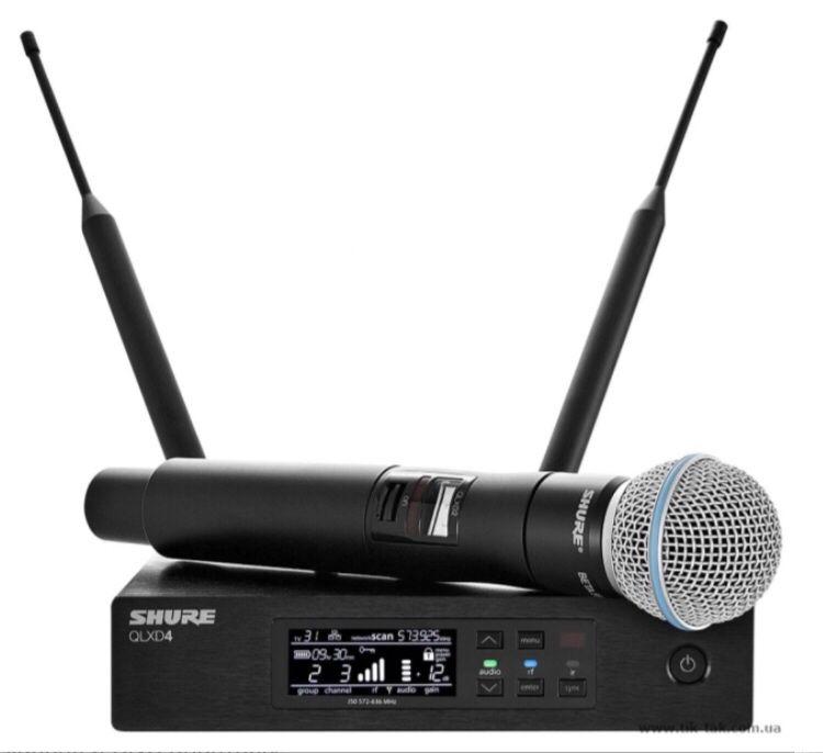Радио микрофон Беспроводная система Shure QLX -D 24SM58 qlxd не ulxd Харьков - изображение 1