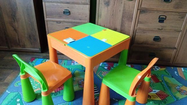 Stolik dla dziecka do klocków LEGO-krzesełka