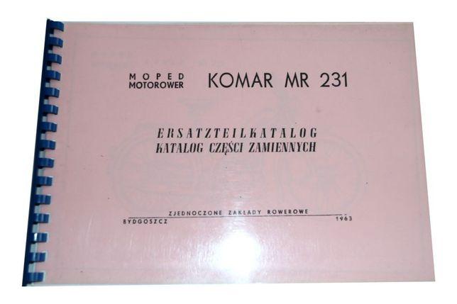 KATALOG CZĘŚCI ZAMIENNYCH ROMET KOMAR MR 231