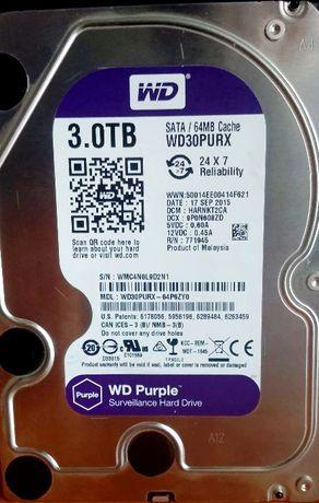 Dysk 3.5 WD30PURX 3000 GB / 3 TB ~ 8 h