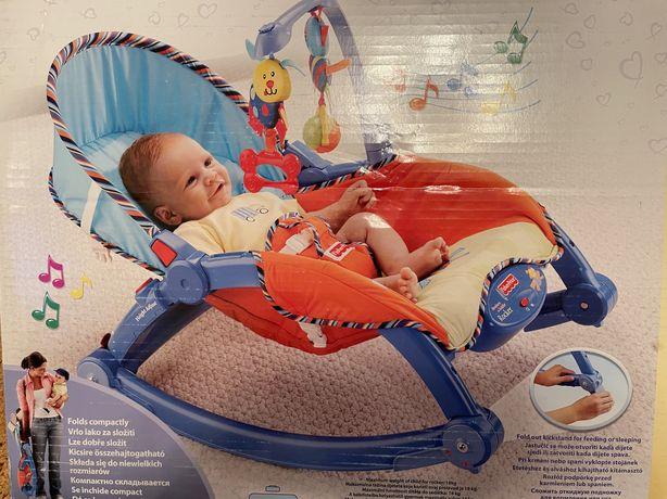 Детское кресло-качалка шезлонг Fisher-Price
