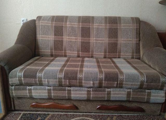 Раскладные диван и два кресла