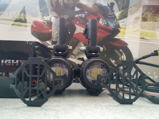 Противотуманные фары LED на мотоцикл, Баги, квадроцикл, лодка (Новые)