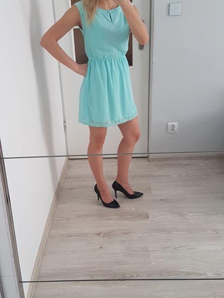 Miętowa sukienka ESMARA rozmiar S