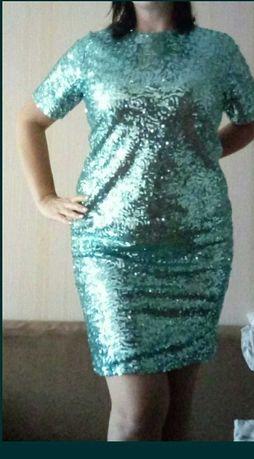 Платье блестящее,  нарядное, красивое шикарное