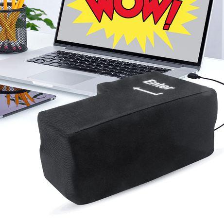 Poduszka Antystresowa Klawisz Enter Na USB Czarna