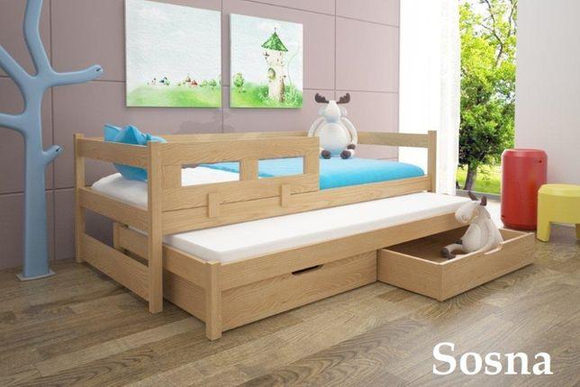 Łóżko 2-poziomowe 200x90 TOMEK z materacami GRATIS